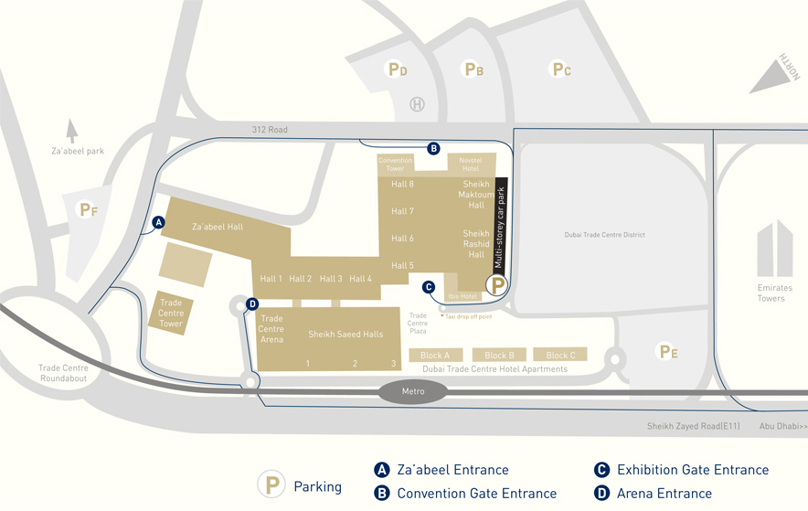 Ipm dubai maps and transport download the ipm dubai venue map gumiabroncs Image collections